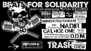 Beats For Solidarity: serata benefit per Mutuo Soccorso! @ Xm24   Bologna   Emilia-Romagna   Italia