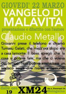 Presentazione del romanzo 'Vangelo di Malavita' con l'autore Claudio Metallo @ Xm24   Bologna   Emilia-Romagna   Italia