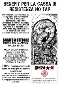 Benefit per la cassa di resistenza NO TAP @ Parco della Zucca - Bologna
